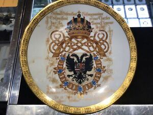 EARLY 1900'S CH FIELD HAVILAND LIMOGES PLATE & GOLD TRIM