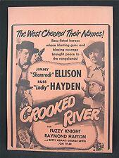 1950 Crooked River Old Movie Poster Broadside Jimmy Ellison Russ Hayden