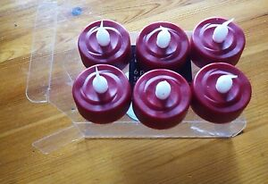 PACK OF 6 RED LED TEALIGHT CANDLES