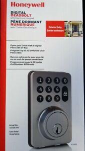 New Honeywell Satin Nickel Electronic Keypad Digital Deadbolt 8714009