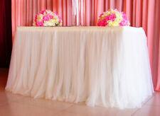 Wedding Tulle Tutu Table Skirt Party Birthday Festive Baby Shower Decor Home US