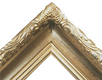 """3.5"""" WIDE Silver Ornate photo family Oil Painting Wood Picture Frame 608S"""