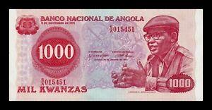 B-D-M Angola 1000 Kwanzas 1979 Pick 117 SC-/SC aUNC/UNC