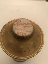 Vintage Beer can, Rainier Special Export, 1939 dated with cap, empty can