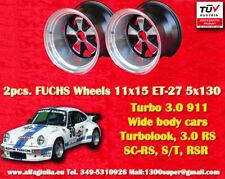 2 Cerchi Porsche 911 11x15R ET-27 Turbo 3.0/3.3 RSR style Felge Wheels TUV jante
