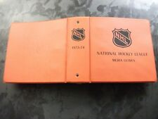 VINTAGE 1973-74 NHL HOCKEY MEDIA GUIDES IN BINDER ALL TEAMS FROM NHL EXECUTIVE