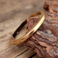 9ct Ring Gold Wedding Band 1947 Vintage Jewellery Old Bridal Mens Sz M Womens