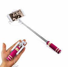 MINI Selfie Teleskop Stange Knopf Stick Schwarz Fernbedienung PINK Monopod