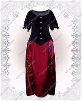 Victorian Steampunk Gothic Civil War Renaissance Velvet Top Bustle Skirt Dress