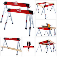 Excel Heavy Duty Steel Saw Horse Folding Twin Pack 1178kg Capacity