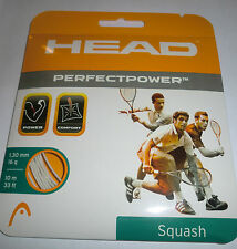 Head Perfect Power Squash String - White