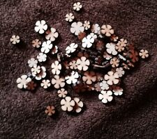 wooden Mixed Size flowers 100 x Mdf Craft Shape Blanks 10,15 Mm