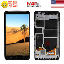 For Motorola Droid Turbo XT1254 XT1250 LCD Screen Touch Digitizer Assembly Frame