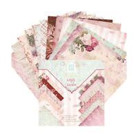24 Sheets Floral Cardstock Papers Scrapbook Paper DIY Album Scrapbook Card Paper
