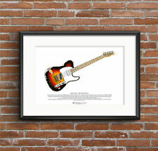 Andy Summers' Fender Telecaster ART POSTER A3 size
