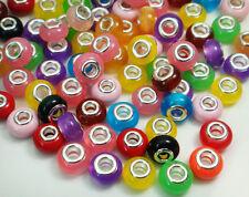 50pcs mix DIY bead lampwork fit European Charm Bracelet Wholesale beads m4