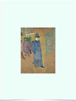 HENRI DE TOULOUSE LAUTREC JANE AVRIL LIMITED EDITION GREEN BIG BORDERS ART PRINT