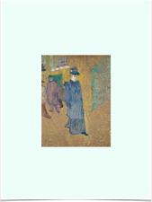 HENRI DE TOULOUSE LAUTREC JANE AVRIL LIMITED EDITION GREEN BIG BORDERS ART PRINT