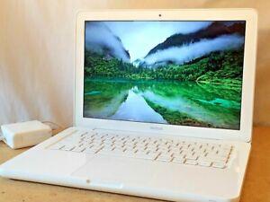 "Apple MacBook 13"" inch Laptop White +Upgraded 8GB RAM 500GB HD WIFI DVD-RW NICE!"