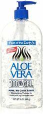 Fruit of the Earth Aloe Vera 100% Gel - 24oz (Pack 3)