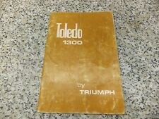 Triumph Toledo 1300 Handbook 3rd Edition 545116 1973 c/w supplement, BL