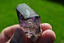Amethyst Enhydro Brandberg quartz crystal from Namibia w/ HUGE Moving Bubble
