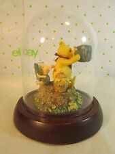 "Disney Winnie The Pooh & Piglet Figurine Under Domed Glass 4.25"" tall x4"" wide"