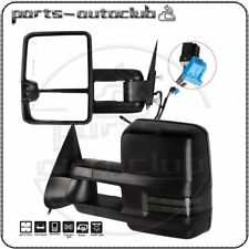 Tow Mirrors for Chevy GMC Power Heated Signal Clearance puddle light Side View