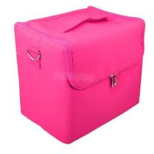 Pro Large Beauty Cosmetic Box Vanity Case Nail Tech Hair Salon Makeup Bag