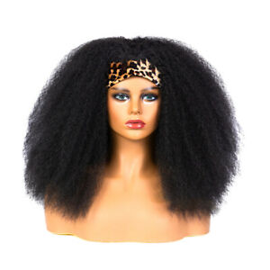 Afro Yaki Kinky Straight Wrap Wigs for Black Women African Curly Hair Full Wigs