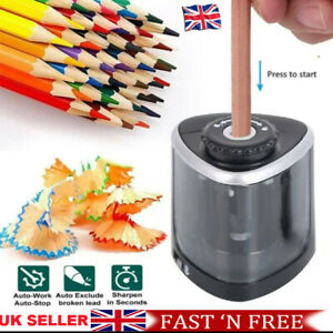 Electric Pencil Sharpener Automatic Touch Switch Battery Power Office Classroom