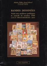 Catalogue Vente aux Enchères BD Drouot 16 Octobre 1999