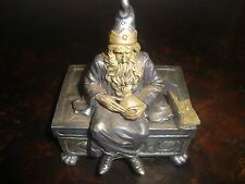 Wizard---Jewelry Box---Pewter---Vandor China---Silver & Pale Yellow---1998