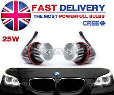 BMW E60 E61 2004-2007 M5 25W LED Angel Eyes Halo Rings Upgrade Bulbs Kit