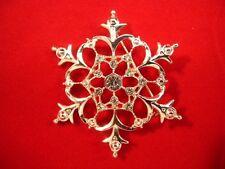 Macy's Holiday Lane Silver Snowflake Pin Brooch in Presentation Box