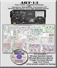 COLLINS ART-13 ART-13A COLOR ENHANCED SCHEMATIC/PIX & CD INFO MANUAL MODS ETC.