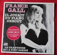 France Gall, il jouait du piano debour  , SP - 45 tours pochette juke box