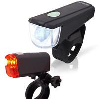LED Fahrrad Beleuchtung 20 Lux Set Batterien Licht StVZO Scheinwerfer Rücklicht