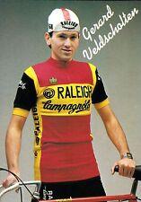 CYCLISME carte  cycliste GERARD VELDSCHOTTEN équipe TI RALEIGH 1982