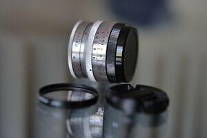 CARL ZEISS BIOTAR 58mm. f/2 m42 17 BLADES Chrome. Red T  BEAUTIFUL CLEAN OPTICS
