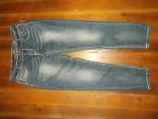 Almost Famous Skinny Crop Jeans Women's Size 7 Destroyed