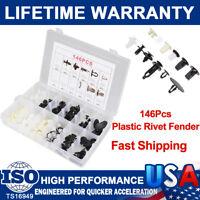146Pcs Fender Door Hood Bumper Trim Door Panel Clip Retainer Fastener For Toyota