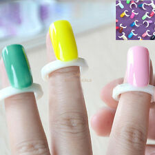 100 Sweet Nail Rings Polish Gel Nail Finger Nail Rings Color Card Swatches New #