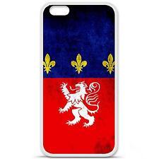 Coque housse étui tpu gel motif drapeau Lyon Iphone 6 Plus