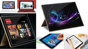 2 x Kristall Klar Display Schutz Folie Microsoft Surface Pro 3 Windows Tab Clear