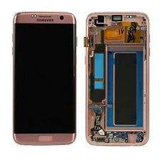 Pantalla LCD Juego completo GH97-18533E Rosa Dorado para Samsung Galaxy S7 Edge