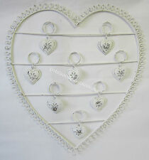 French Provincial Metal Heart 8 Photo Holder & Small Hearts Great Wedding Decor