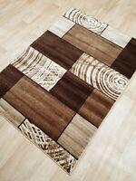 Brown Beige Short Pile Small Large Rug Carpet Mat New Modern Design 2019 Rugs