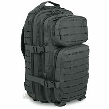 Mil-Tec Small Laser MOLLE Army Hiking Daysack Assault Pack Rucksack 20L Black