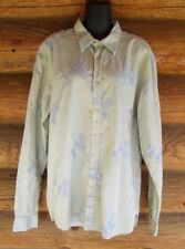 Ted Baker London Womens Cotton Brocade Green Blue Floral Blouse Size 6